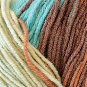 Elise 100g turkos kolabrun batik 69020