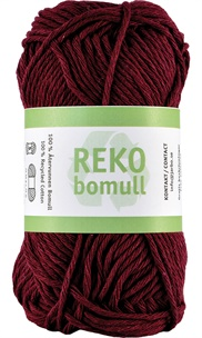 Reko bomull Bordeaux red 24230 (69)